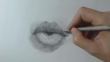 素描入门到底怎么学才简单? 老师带你轻松学素描, 半小时学会嘴唇的画法全程详细讲解