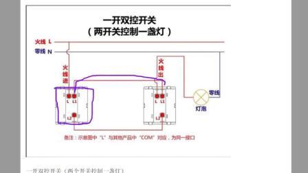 水电识图安装教程之单联双控与双联双控的区别
