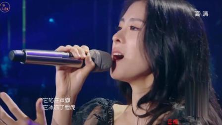 张碧晨为了把这首歌唱好, 竟然唱到了下蹲, 全场都听醉了!