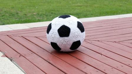 毛儿手作足球抱枕钩针视频教程编织图案