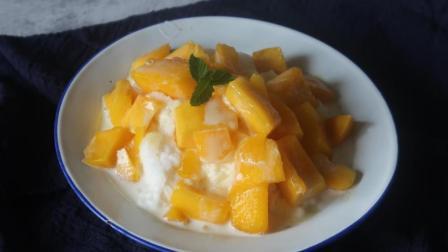 夏日芒果牛奶冰在家自己做, 没有任何工具也能做出好吃的沙冰!