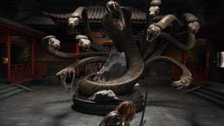 四分钟看完奇幻电影《博物馆奇妙夜3》, 男子吵醒了上古恶兽九头妖相柳, 这下惨了