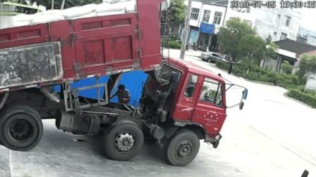 大货车司机死得太惨了, 家人看到视频时泪都流干了!