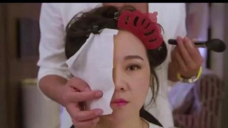 闫妮半脸美妆, 半脸没画, 差别简直不要太大了, 学会化妆真是太重要