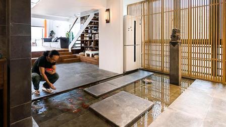 他在20楼挖池塘、造园子, 把家改成空中花园, 只花3000元