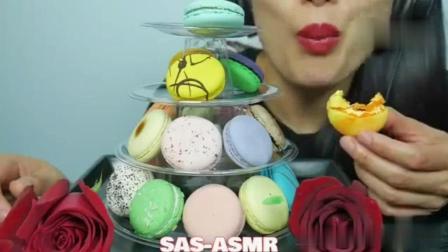 SAS吃播: 牛奶配玫瑰, 马卡龙旋转甜品台, 太棒了, 这个我也想吃