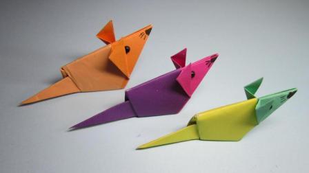 儿童折纸简单又漂亮的小动物, 3分钟学会可爱的小老鼠折法