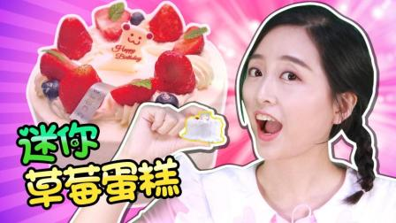 小葩迷你厨房之世界上最小的草莓蛋糕! 小伶玩具