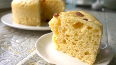 一杯牛奶, 一碗面粉, 教你在家做蓬松有弹性的葡萄干发糕