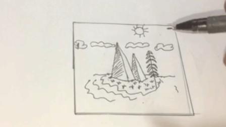 一幅画怎么画小白教程绘画简笔画儿童易学来头条选缌雅素看老王