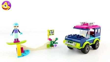 聪明的宝宝一起建造乐高吉普车一起环游世界吧