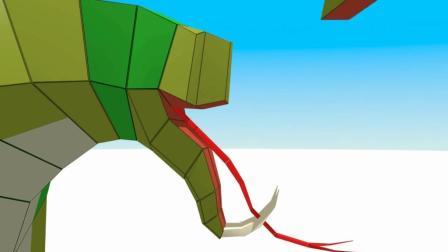 益智趣味动画片 3D眼镜蛇