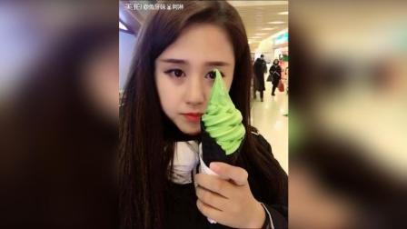 抹茶冰淇淋#吃秀##走哪吃哪#