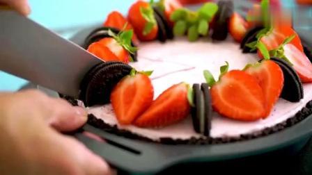 奥利奥也能做的美味甜品, 草莓奥利奥蛋糕, 酸甜滋味, 做法也简单