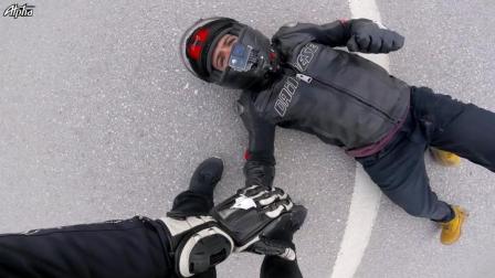摩托车时速299摔车全程被拍下