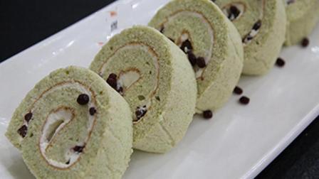 抹茶红豆蛋糕卷的做法, 光是看一看, 就能瞬间让人充满食欲