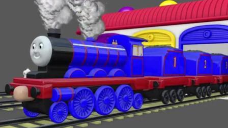 托马斯小火车和它的朋友们之托马斯小火车拉货物动画