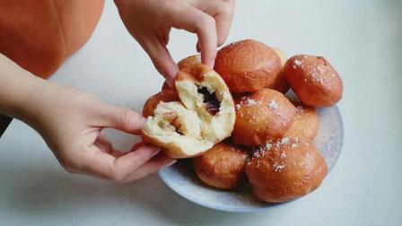 想吃这样蜜豆小面包不用买, 做法和配方都告诉你, 不用烤箱也能做