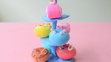 超简单粘土食玩蛋糕没有地方放? 为这些可爱小蛋糕做个蛋糕架