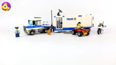 乐高警车系列玩具 帅气警用房车儿童早教益智玩具