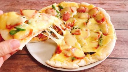手工制作披萨饼底, 详尽配方手把手教你如何在家做平底锅披萨