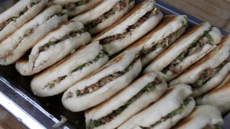 肉夹馍的家常做法, 卤肉、做饼、都特别的详细, 视频长达7分钟