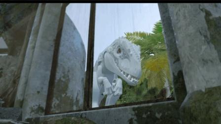 乐高侏罗纪世界, 阻挡白色暴龙的追猎