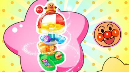趣盒子玩具 第一季 面包超人彩虹城堡滚滚乐砸摔摔奇趣蛋