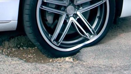 能弯曲变形的柔性车轮, 怎么也磕不伤轮毂, 开高速永不爆胎