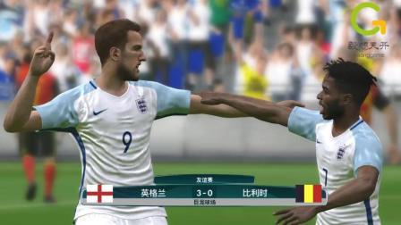 实况足球世界杯3、4名决赛, 英格兰VS比利时集锦, 凯恩梅开二度!