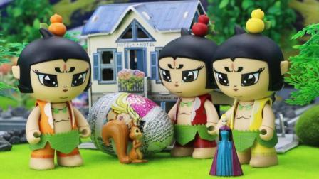 超级飞侠乐迪帮葫芦娃送奇趣蛋包裹, 看看包裹里都有什么吧