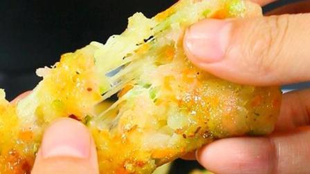 会拔丝的芝士土豆饼, 超级好吃! 喜欢吗?
