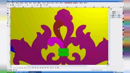 精雕浮雕设计教程电脑浮雕设计培训 电脑浮雕雕刻机 对称西洋花1