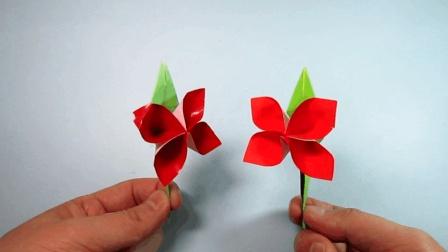 趣味折纸花朵, 2分钟学会简单又漂亮的纽扣花折法, diy手工制作