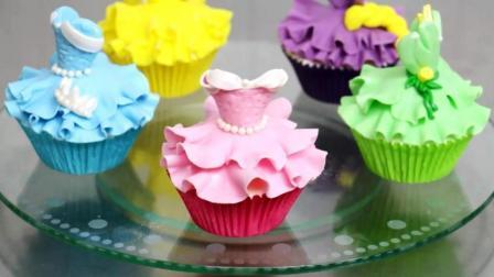 太牛了! 一根牙签就能做蛋糕, 分分钟搞定5种迪士尼公主裙!