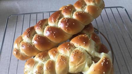辫子面包的正宗做法, 不放一滴水松软拉丝, 比面包店卖的好吃