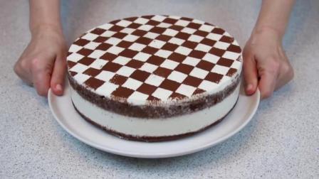 简单食谱, 好看又好吃的棋盘蛋糕制作方法
