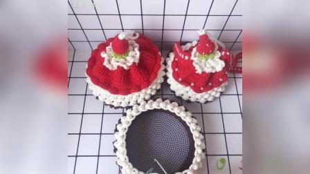 美拍视频: 草莓蛋糕束口包教程-9