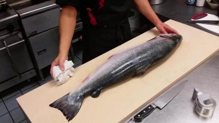 如何正确的切三文鱼刺身, 三文鱼切片技巧如何腌三文鱼法视频教程