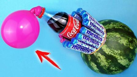 简单有趣的生活黑客, 西瓜加可乐可以把气球吹大吗?