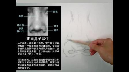 素描鼻子不会画? 10分钟轻松学会。适合0基础学员学习