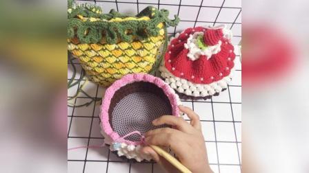 草莓蛋糕束口包教程-11 #手工#