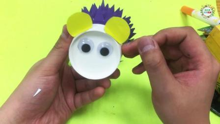如何用纸杯制作好玩的手工-幼儿动物纸杯手工刺猬