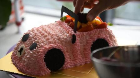 小汽车蛋糕的做法, 送给正在放暑假的小朋友