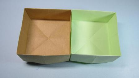 简单垃圾盒子的折法, 一张长方形纸折出实用的收纳盒, 手工折纸
