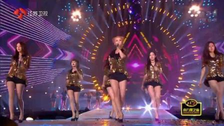 Tara这首《小苹果》播放量过一千万, 在跨年演唱会上出尽了风头