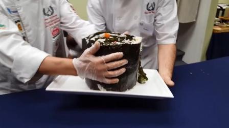 巨无霸大寿司 用武士刀才能切开