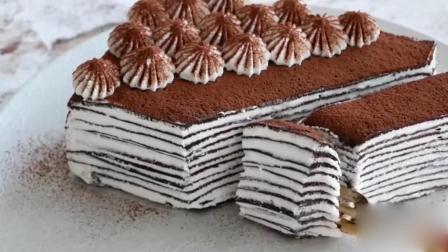 美味的可可千层蛋糕, 无需烤箱