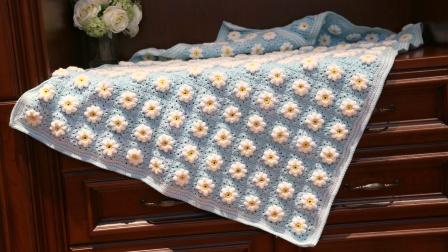 小辛娜娜编织2018第53集法兰西雏菊花毯子的钩织方法编织方法教程