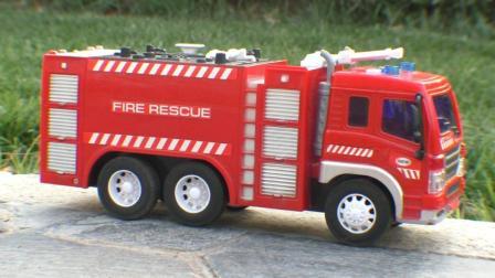 消防车出警玩具视频 儿童消防车益智早教玩具